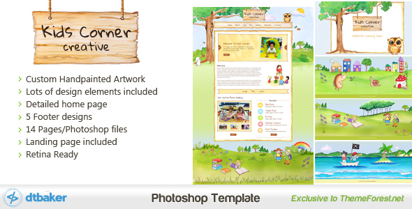 Kids Corner Creative website theme