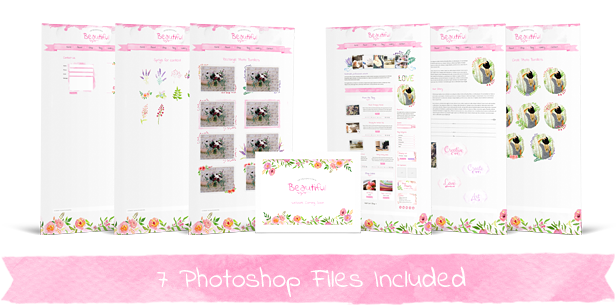 Beautiful photoshop file template