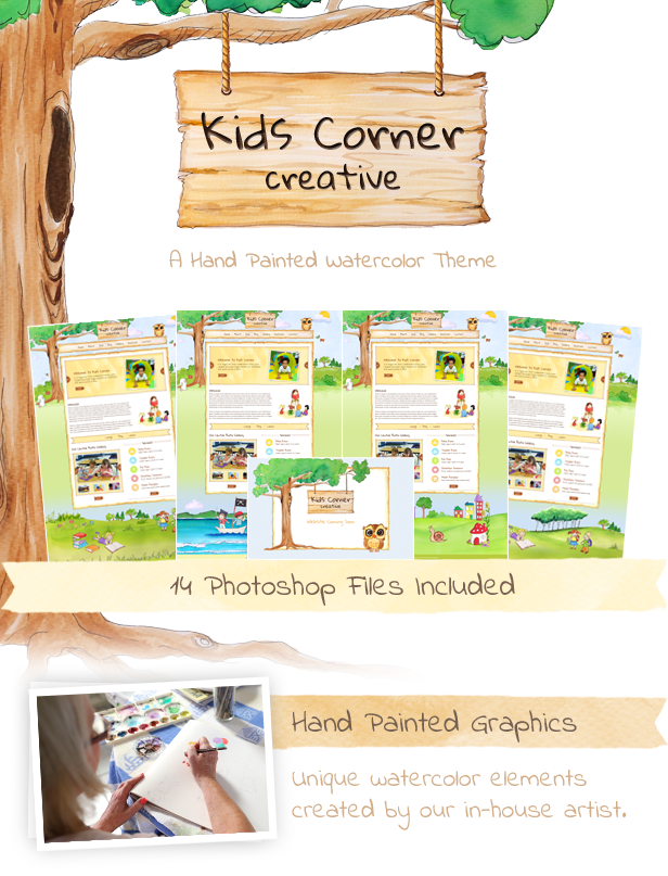 Kids Corner Creative Website Template