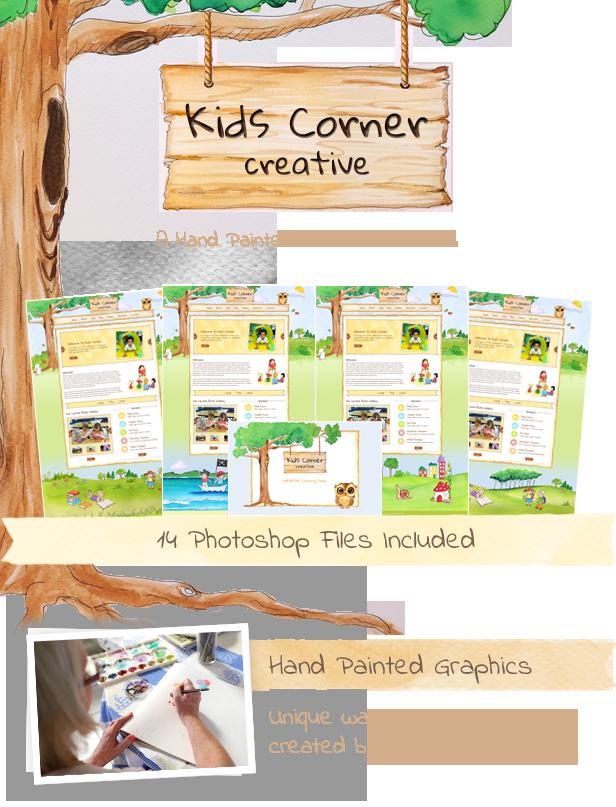 Kids Corner Creative Website Template