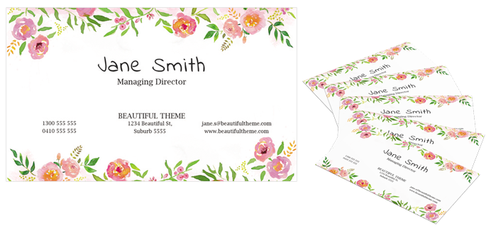 Beautiful watercolor free business card template dtbaker freebie beautiful business cards cheaphphosting Gallery
