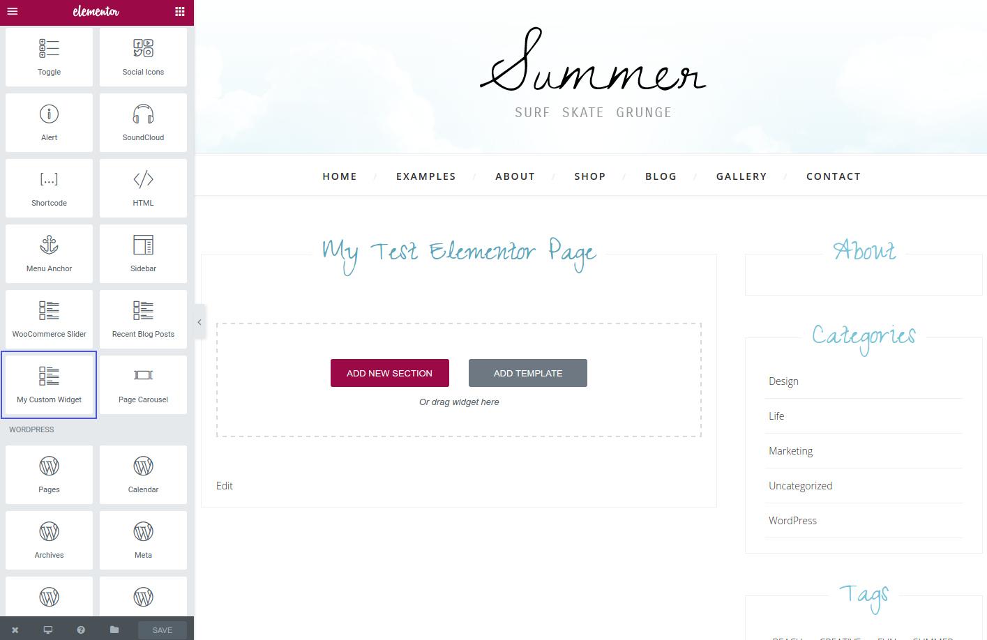 Creating your own custom Elementor widgets – dtbaker net