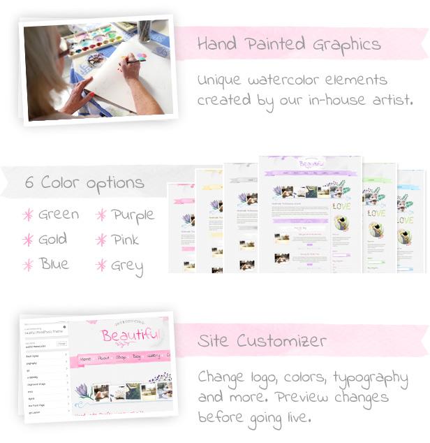 Hand Painted WordPress Theme