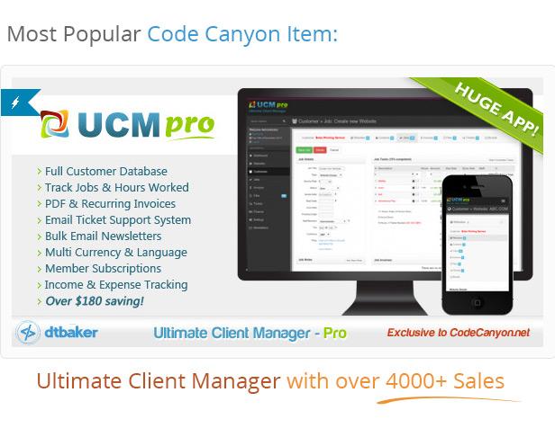 great PHP client management script