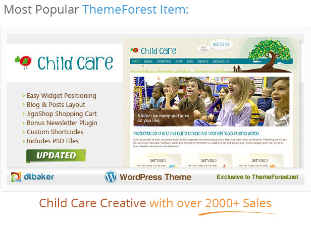 popular childrens wordpress theme