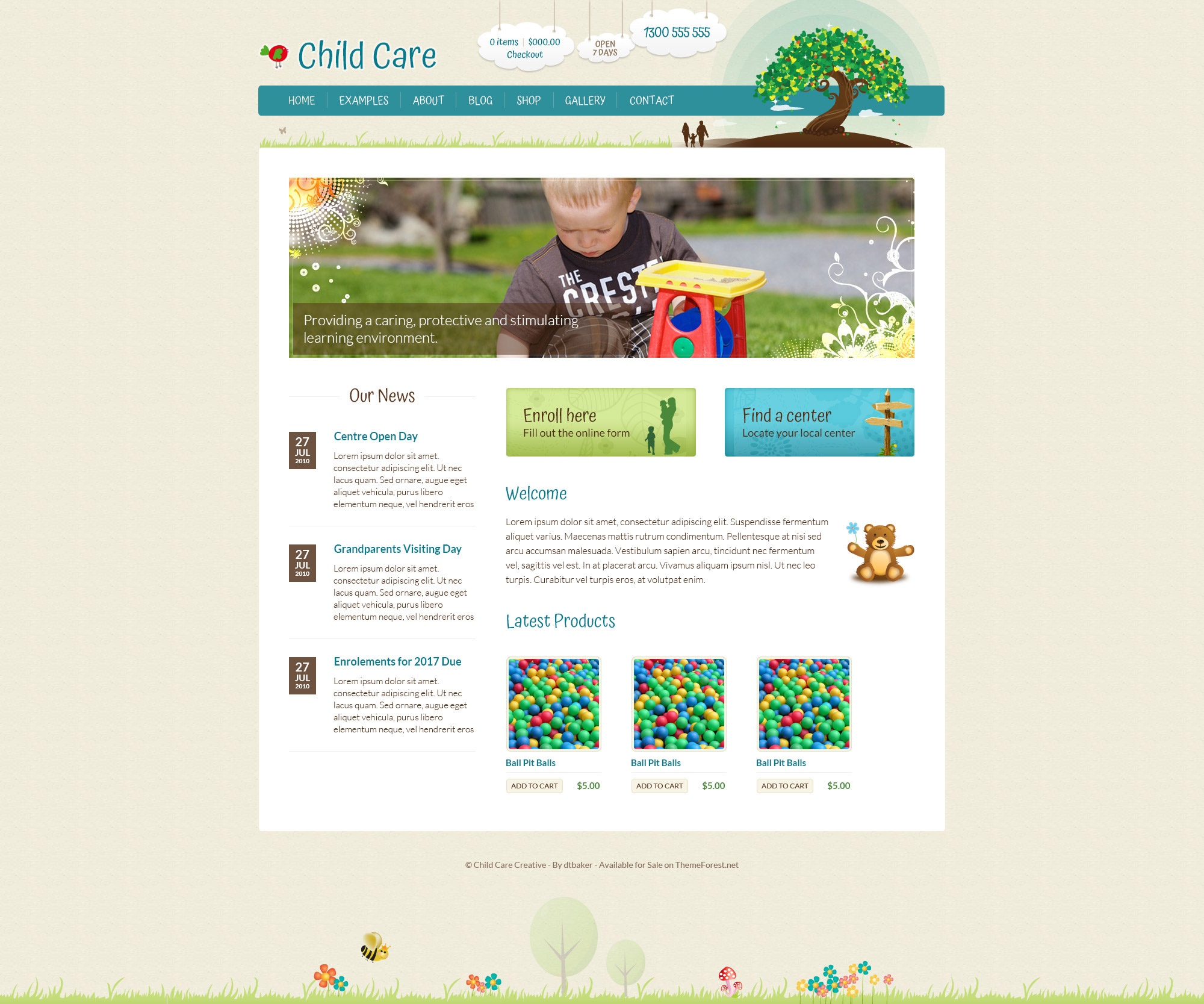 child care creative wordpress theme