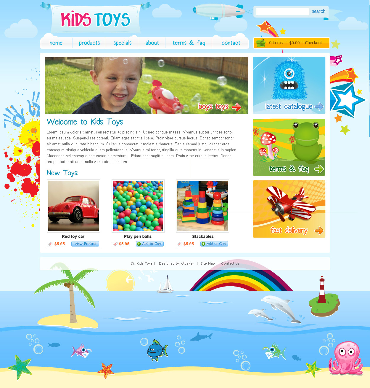 Kids toys wordpress theme