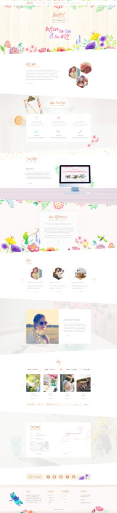 Pastel watercolour wordpress theme
