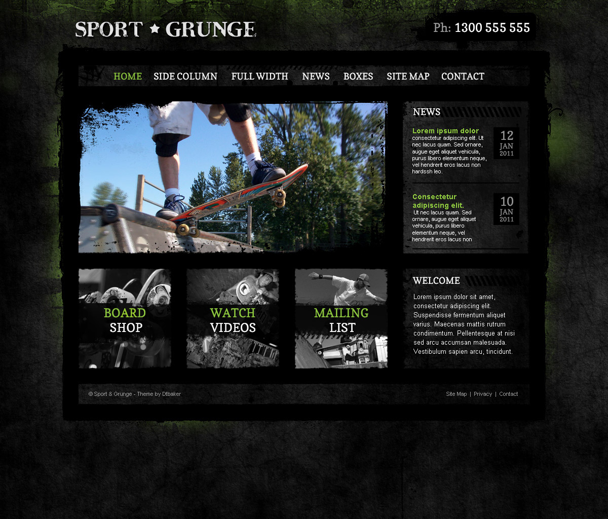 Sport grunge wordpress theme