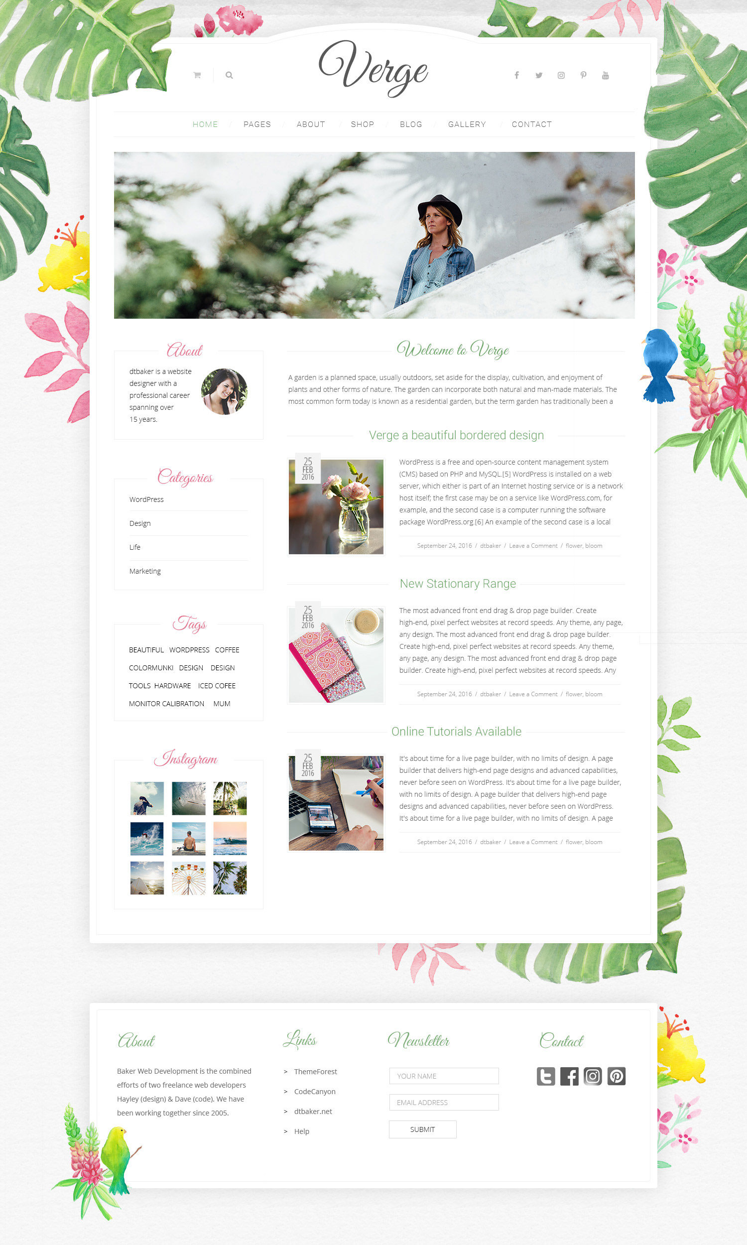 verge watercolour wordpress theme