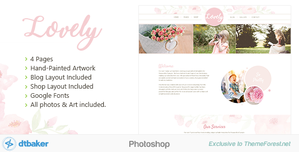 Lovely website template
