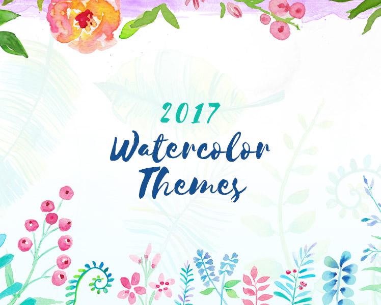 2017 Watercolor WordPress Themes